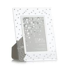 Star by Julien Macdonald Designer silver glass Swarovski crystal photo frame- at Debenhams.com