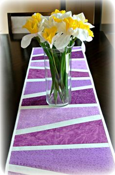 Purple Easter Table Runner. Spring Table by DesignItAgainCrafts, $32.00