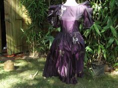 1980s Painted Satin Prom Dress Home Coming by Petticoatjanevintage, £20.00