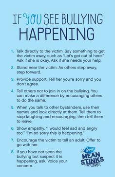 If you see bullying happening. #stopbullying