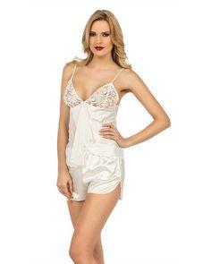 917cc7c8947 Amanda Satin and Lace Bridal Camisole Set