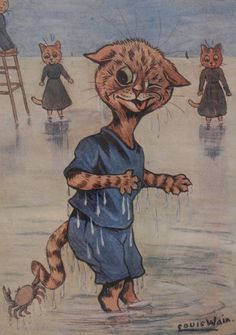 Louis Wain print of cats