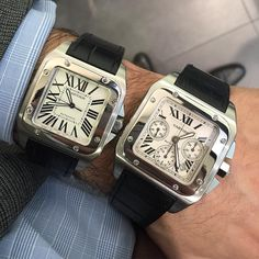 CARTIER SANTOS 100 Large - £3,295 XL - £4,395  Both immaculate, fully complete and with a 12 month warranty all Luciano now 020 7220 7755