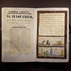From sketchbook of Petri Fills. #sketchbook #drawing #museum #curiosities