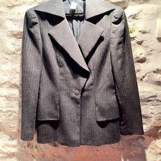 1990' Karl Lagerfeld wool jacket silver threads by nicevintageshop #etsyvintage