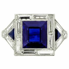 Art Deco sapphire ring (I'm normally not a sapphire fan, but really!)