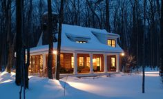 Sears Architects, Harbor Springs, cabin-style architecture, woods, stone chimney