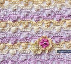 MyPicot  - FREE CROCHET PATTERN - beautiful stitch! <3