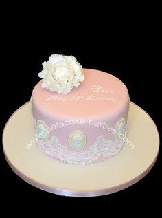 85th Birthday Cake 80 Cameo Sugar Craft