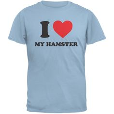 I Heart My Hamster Light Blue Youth T-Shirt