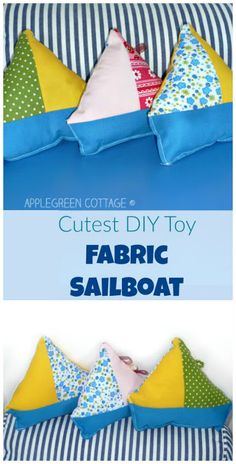 Cutest DIY Fabric Sailboat Toy
