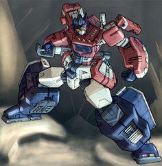 Optimus Prime Stance by Blitz-Wing.deviantart.com on @DeviantArt