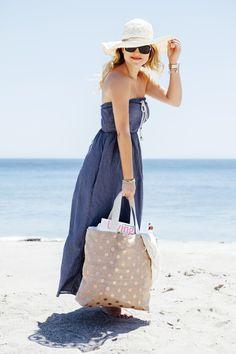 "DIY // How to sew the perfect ""Honeymoon Beach Bag"""