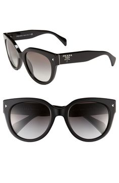Prada 54mm Cat Eye Sunglasses at Nordstrom.com.   Retro-inspired cat-eye frames are updated in a bold silhouette and fashioned with gradient lenses.