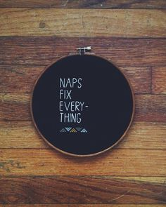 cross stitch: Naps fix everything