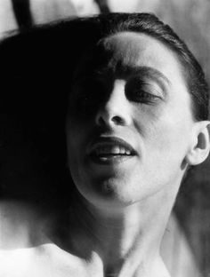 """Imogen Cunningham Martha Graham 18 1931 """"No artist is pleased. There is no satisfaction whatever at any time. There is only a queer, divine dissatisfaction, a blessed unrest that keeps us marching and makes us more alive. Imogen Cunningham, Simple Subject, Martha Graham, Famous Dancers, Eyes Wide Shut, Studio Portraits, American, Famous People, Bodies"""