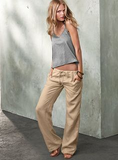 These pants are a staple in my summer wardrobe this year. 100% linen, low rise and they come in lengths (a bonus for us shorties). On top of that - only $24.50 online.