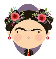 Image by Maria Jose Da Luz - Illustration from Frida Art, Maria Jose, Mexican Folk Art, Cute Illustration, Pop Art, Art Projects, Art Drawings, Art Prints, Painting