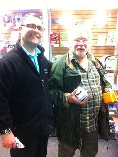 Bill Oddie visits our Great Portland Street store Portland Street, Fan Image, Random, Store, Funny, Fictional Characters, Tent, Shop Local, Ha Ha