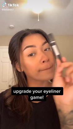 Edgy Makeup, Eye Makeup Art, Skin Makeup, Doll Eye Makeup, Glamour Makeup, Basic Makeup, Grunge Makeup, Makeup Brushes, Makeup Tutorial Eyeliner