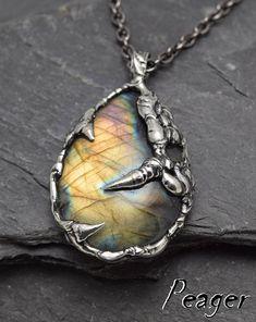 Labradorite Pendantmen necklaceMen pendantOxidized