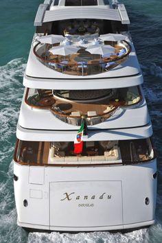 Xanadu by Benetti Yachts - 197 feet. Benetti Yachts, Luxury Yachts, Yacht Boat, Yacht Club, Float Life, Biggest Cruise Ship, Yacht Cruises, Private Yacht, Love Boat