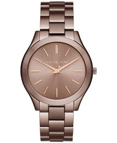 womens watches buy watches for women online myer watches michael kors women s slim runway sable ion plated stainless steel bracelet watch 42mm mk3418