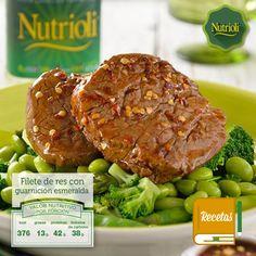 ¡Aliméntate con este completo y saludable platillo: Filete de res con guarnición esmeralda! La carne te aportará vitaminas B, K, proteínas y minerales. Da clic aquí: http://bit.ly/TPFkeW. ¡No olvides compartir la receta! #ChopChopChop