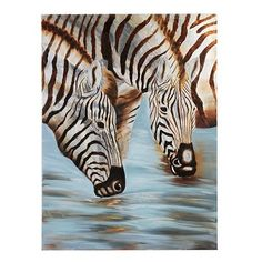 zebra canvas print #animalinstincts #kirklands This would look perfect in my living room!