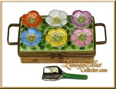 flower crate w/removable gardening tool
