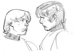 Star Wars - Luke and Han by Stuart Immonen *