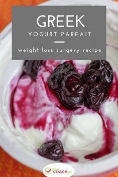 You won't believe how simple this Greek Yogurt Parfait is to make and it's lower in carbs than pre-made yogurts! Great for a breakfast or sweet treat after Gastric Sleeve or Bypass surgery! Yogurt Breakfast, Sweet Breakfast, Breakfast Recipes, Dessert Recipes, Drink Recipes, Desserts, Bariatric Recipes, Bariatric Food, Greek Yogurt Parfait
