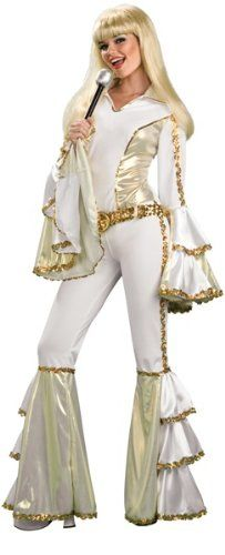 Abba costume ideas Image: Rubies ABBA 70s Girl Disco Queen Outfit Halloween Costume
