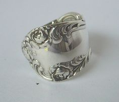 Sterling Silver Spoon Ring Ornate Fork Jewelry   by silveruware, $49.00