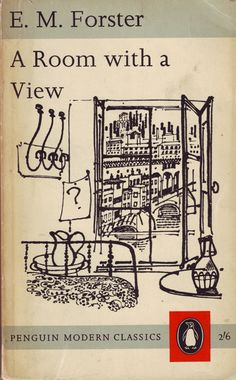 """""""A Room with a View"""" by E.M. Forster. Book cover illustration by David Gentleman (Penguin Modern Classics)"""