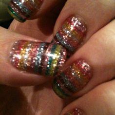 Rainbow nail foils