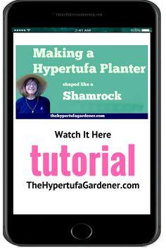 A Shamrock - Great Hypertufa Molds Diy Planters, Garden Planters, Cement Planters, Gardening For Beginners, Gardening Tips, Landscaping With Roses, Garden Balls, Garden Crafts, Garden Art