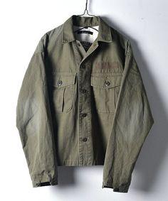 【ミリタリーシャツジャケット】リップストップを使用した軽めのミリタリージャケットです。シャツ…