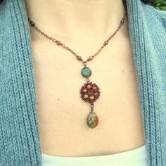 Pumpkin Patch Beadwoven Necklace ~ LaBella Joya on Etsy ~ sold