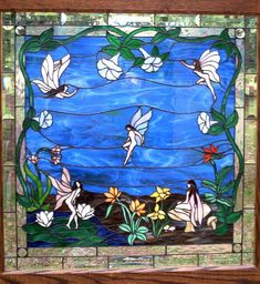 Fairy Garden stained glass window