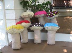 Plush Mushroom Pillows by MelanieShanks on Etsy, $35.00