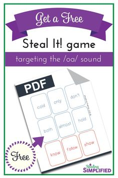 Give your students this fun game (FREE!) and watch them race to read more and more words! The game Steal It! is a sneaky way to get students to recognize both key phonics patterns AND high frequency words....while thinking they're just playing a game. #decoding #sightwords #intervention #game