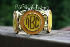 Yellow Bubble Bracelet Monogrammed Personalized Great by OldTrace, $15.00