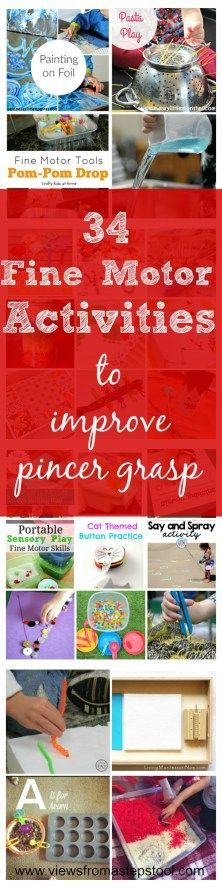 Fine motor activities are a perfect way to improve pincer grasp and work on…
