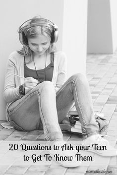 Teens struggle during this stage just about as much as we are. Get through it, in one piece, with 20 questions to ask your teen to get to know them. via @momontheside