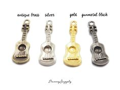 10 pieces Ukulele Guitar Charm Pendant Findings por punnysupply