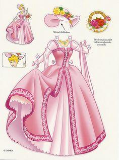 Paper Dolls: Cinderella doll 2 clothes