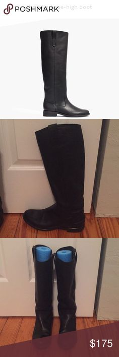 Madewell Allie Tall Boot Timeless knee-high boots with classic equestrian feel. Inspired by luxury shoemakers, this keep-forever pair is made of rich leather, right down to the easy to break in soles.   Gorgeous boots. These have only been worn a handful of times and are in very good condition. Barely any wear on bottoms of soles and no wear on leather.   17 1/4 inch shaft height 14 1/2 inch shaft circumference  3/4 inch heel Leather upper, lining and sole Available on madewell.com Madewell…