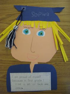 First grade graduation craft...we can adapt this for third!  and make it an explanatory essay!