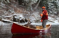 G Conover Winter Poling Kayak Boats, Canoe And Kayak, Fishing Boats, Canoeing Outfit, Canoe Pictures, Old Town Canoe, Blue Canoe, Wood Canoe, Small Boats